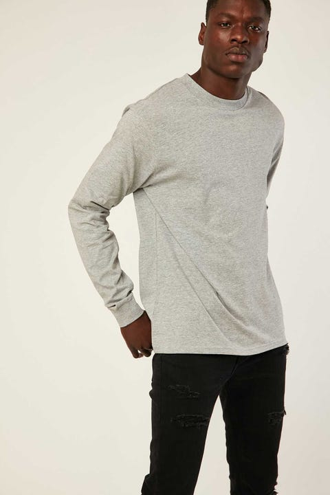 AS COLOUR General LS Tee Grey