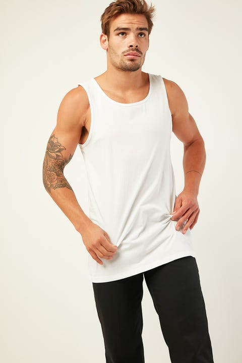 AS COLOUR Lowdown Singlet White