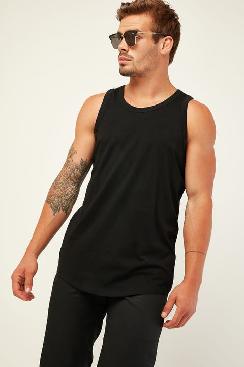 AS COLOUR Authentic Singlet Black