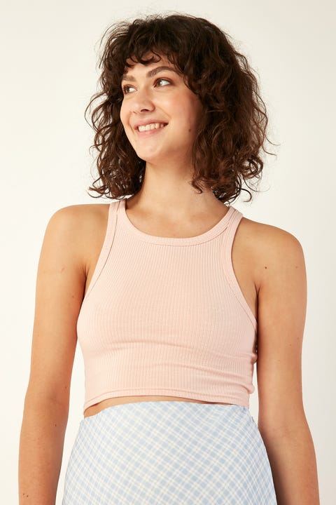 L&T Super Crop Top Pink