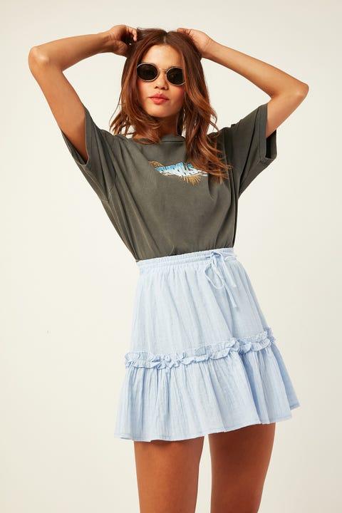 LUCK & TROUBLE Enchanting Mini Skirt Blue