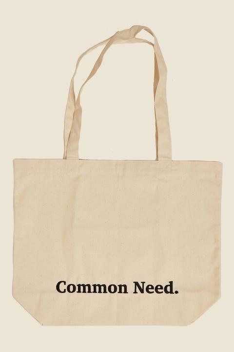Common Need Herringbone Tote Bag Oatmeal
