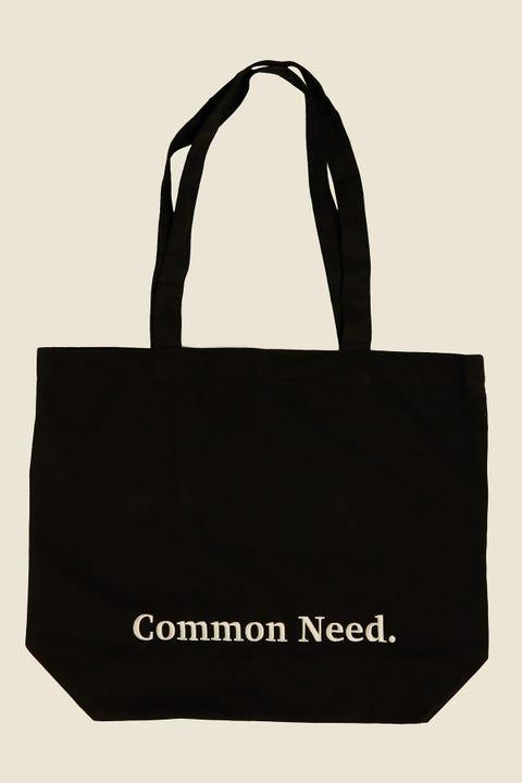 COMMON NEED Herringbone Tote Bag Black