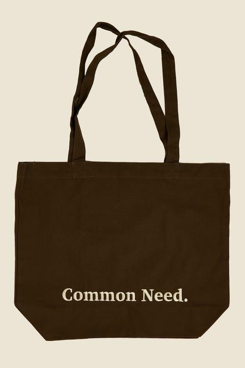 COMMON NEED Herringbone Tote Bag Green