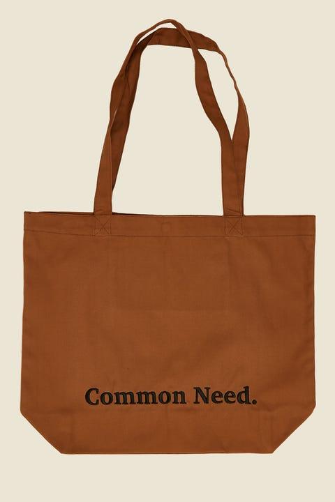 COMMON NEED Herringbone Tote Bag Tan