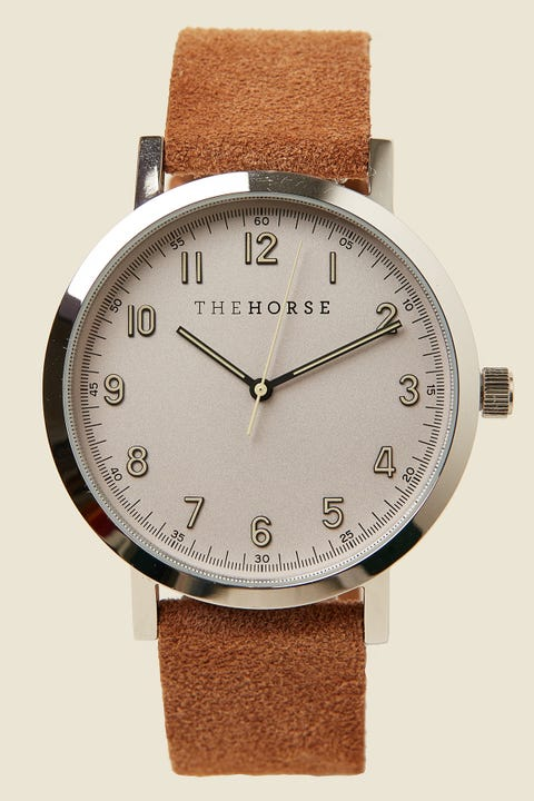THE HORSE The Original 2.0 Polished Silver/Off-White/Tan Suede