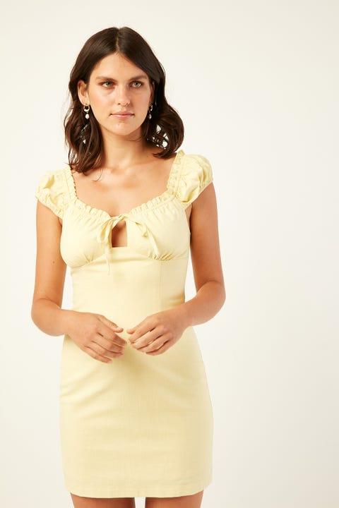 PERFECT STRANGER Malibu Mini Dress Yellow