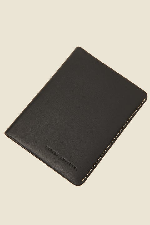 STATUS ANXIETY Conquest Travel Wallet Black