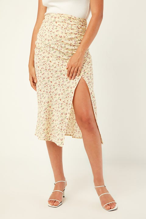 Perfect Stranger Perception Midi Skirt