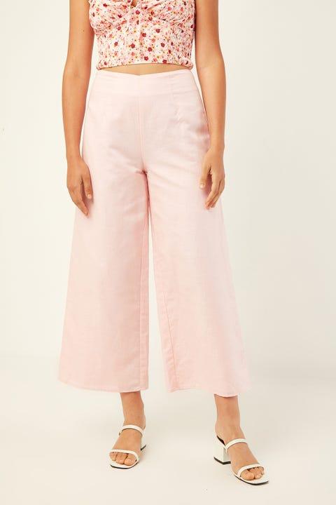 PERFECT STRANGER Fade Away Linen Pant Pink