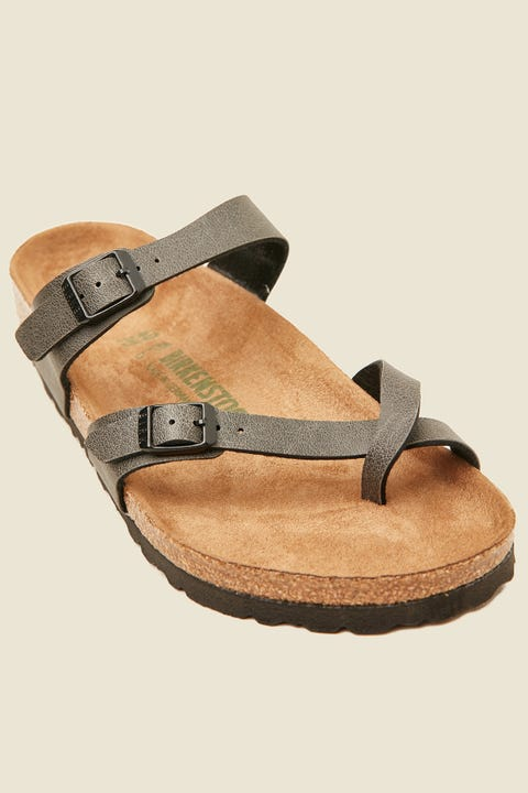 BIRKENSTOCK Womens Mayari Birko-Flor Pull Up Vegan Anthracite