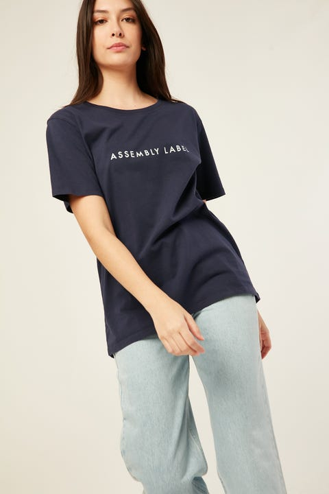ASSEMBLY Logo Tee Indigo