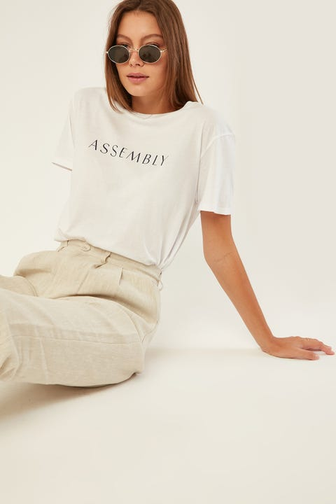 ASSEMBLY Atrium Tee White Indigo