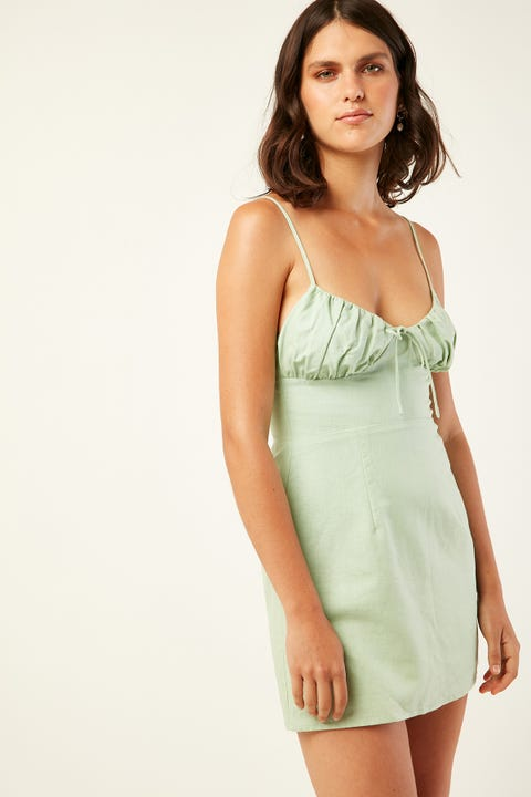 PERFECT STRANGER Shake it Off Mini Dress Green