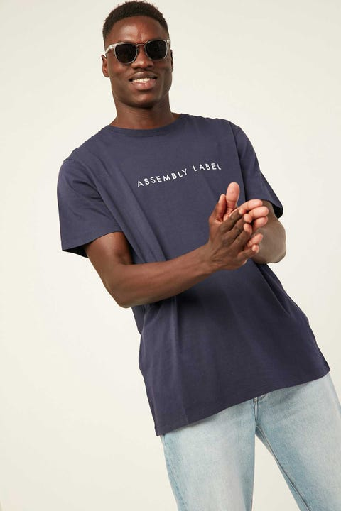 Assembly Logo Tee Indigo White