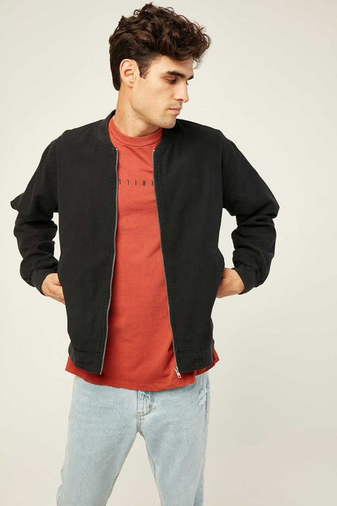 Assembly Nils Canvas Bomber Black
