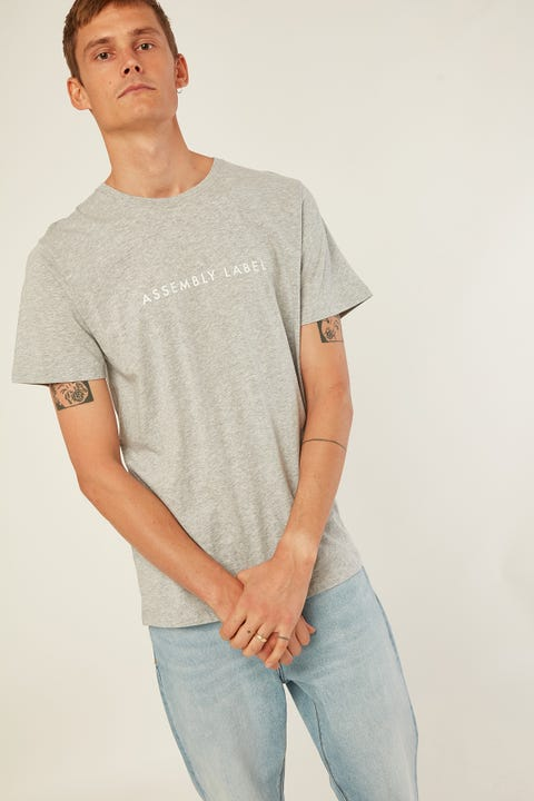 ASSEMBLY Logo Tee Grey Marle White