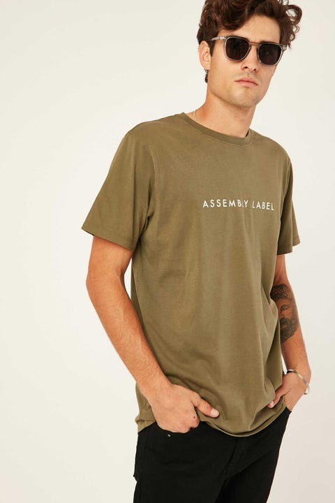 Assembly Logo Tee Thyme White
