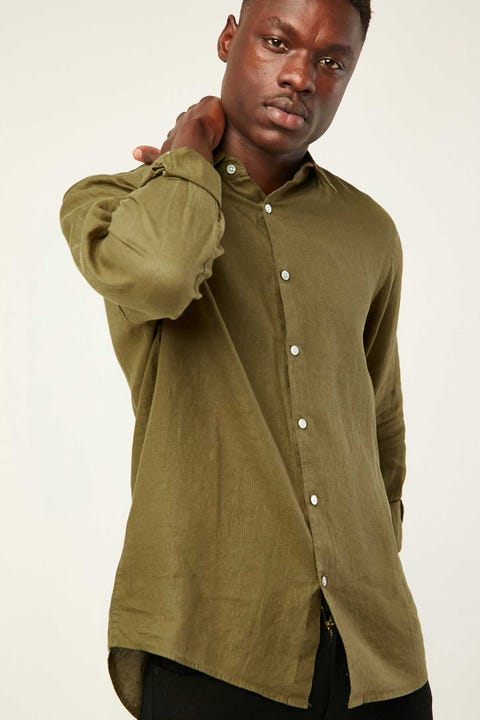ASSEMBLY Casual Long Sleeve Shirt Thyme