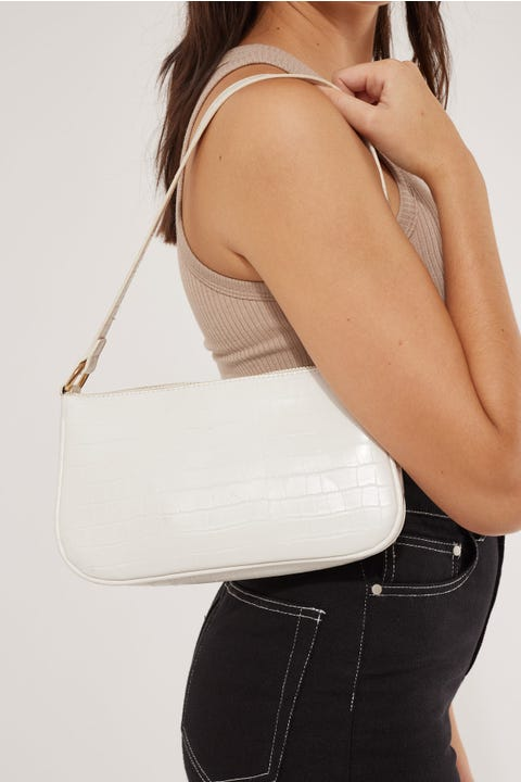 Token 90's Shoulder Bag White