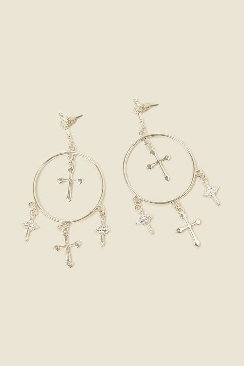 TOKEN Crossed Out Earring Silver