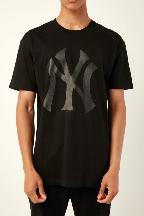 Majestic Athletic NY Prism Tee Black Black