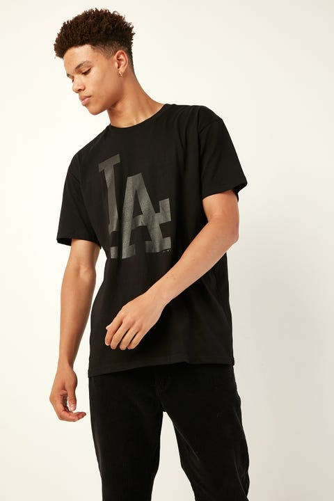 Majestic Athletic LA Prism Tee Black Black
