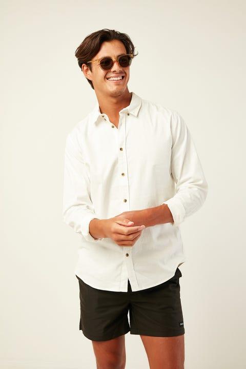 COMMON NEED Gabriel Long Sleeve Shirt White