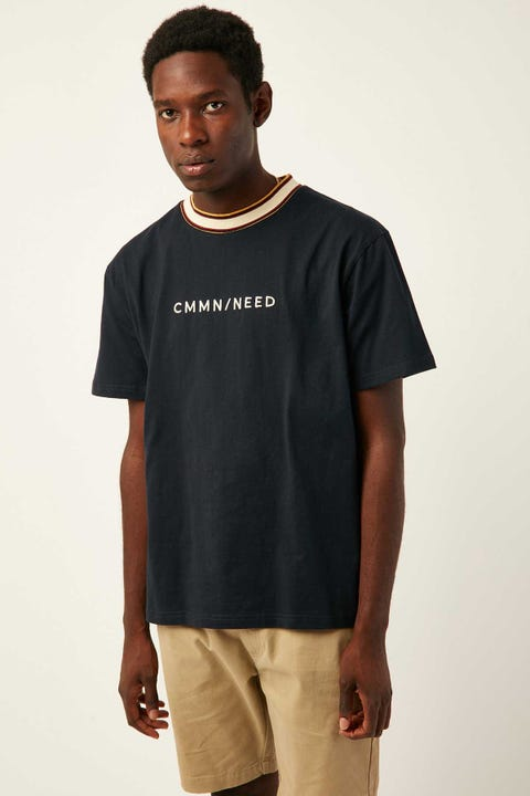 COMMON NEED Recon Ringer Tee Navy