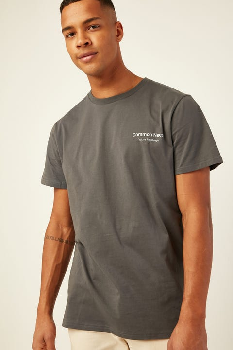 COMMON NEED Portside Tee Charcoal