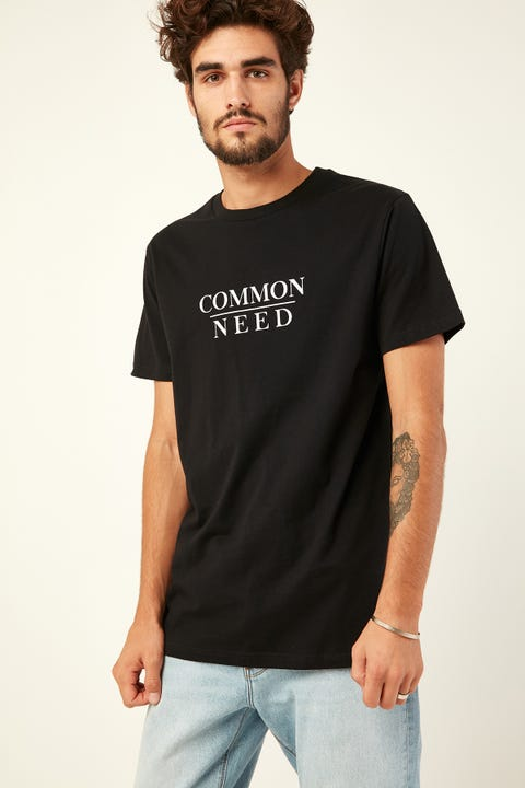 COMMON NEED Midnight Tee Black