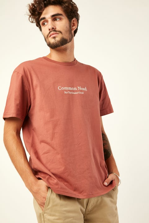 Common Need Greater Good Tee Red