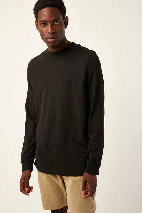 COMMON NEED Longsleeve Mockneck Black