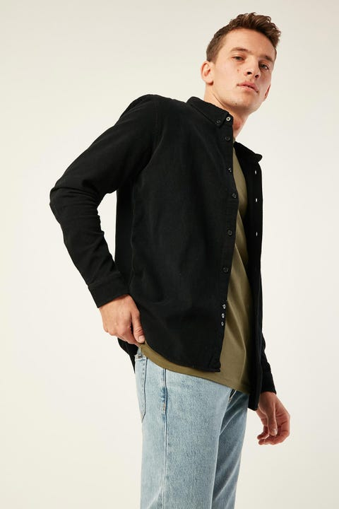 Common Need Garcia Cord Long Sleeve Shirt Black