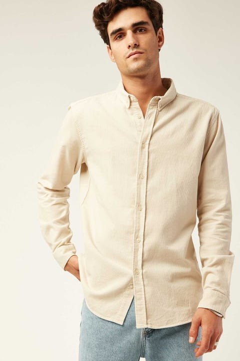 Common Need Garcia Cord Long Sleeve Shirt Bone