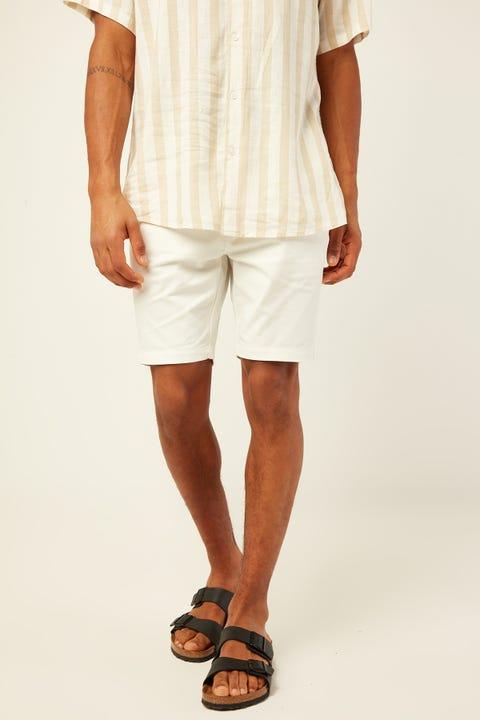 COMMON NEED Slim Chino Short White