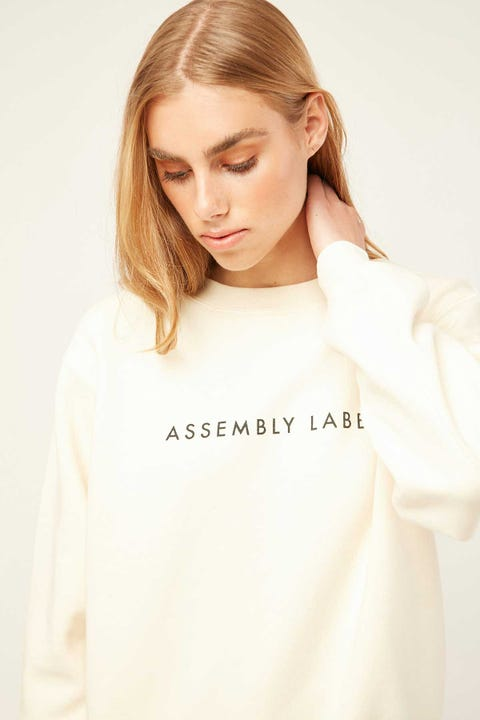 ASSEMBLY Logo Fleece Natural/Black