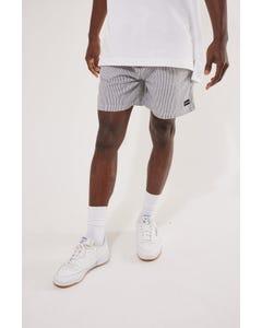 Common Need Seersucker Shorts Black/White Stripe