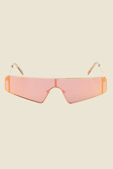 LE SPECS Cyberframe Gold/Rose Mirror