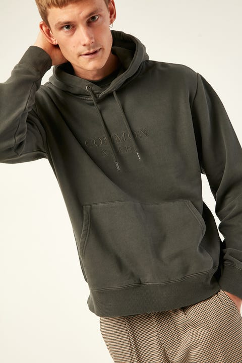 COMMON NEED Timber Insulate Hoodie Washed Black