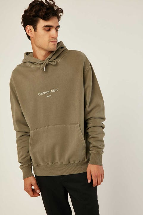 Common Need Wick Insulate Hoodie Pigment Olive