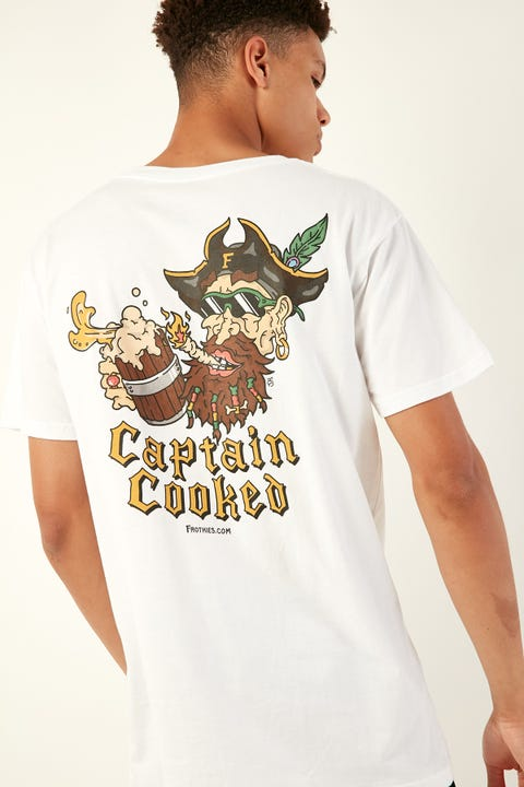 Frothies Captain Cooked Tee White