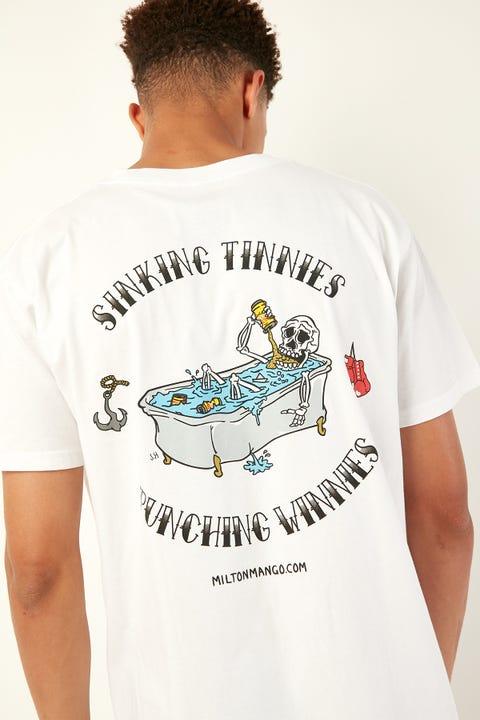 Frothies Sinking Tinnies Punching Winnies Tee White