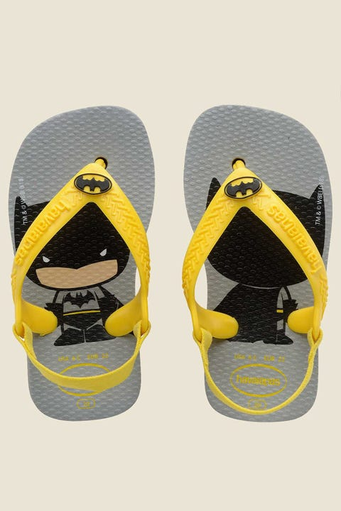 Havaianas Baby Batman Thong Steel Grey
