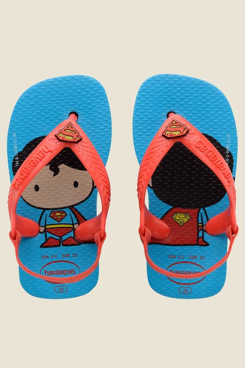 Havaianas Baby Superman Thong Turquoise Strawberry