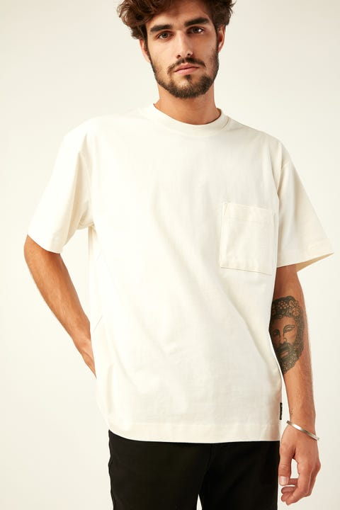 COMMON NEED Heavyweight Pocket Tee Bone