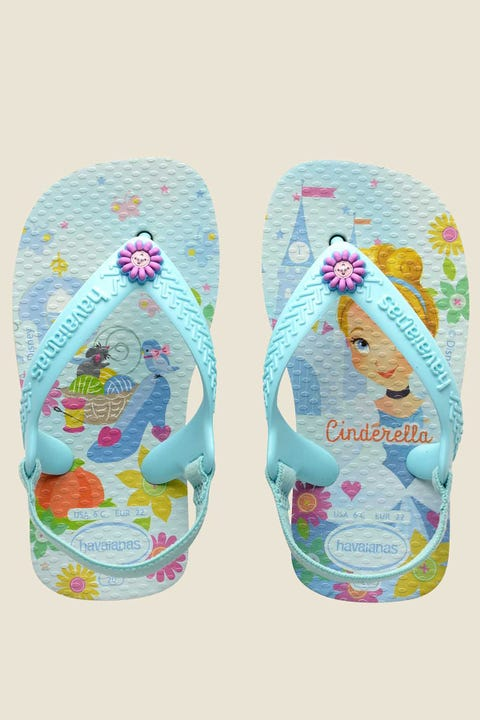 Havaianas Baby Disney Princess Thong White Ice Blue