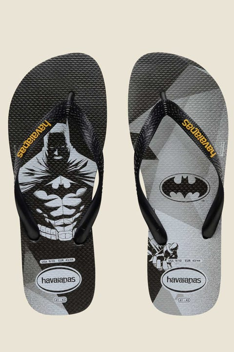HAVAIANAS Kids Batman Thong Black