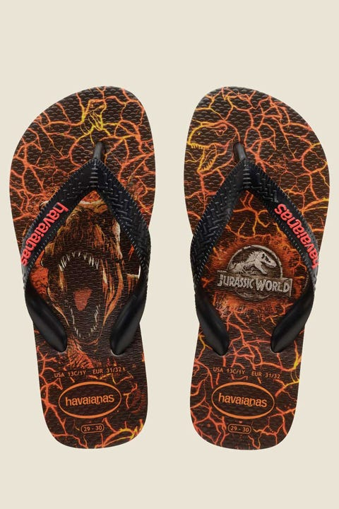 HAVAIANAS Kids Jurassic World 2 Thong Sand Grey