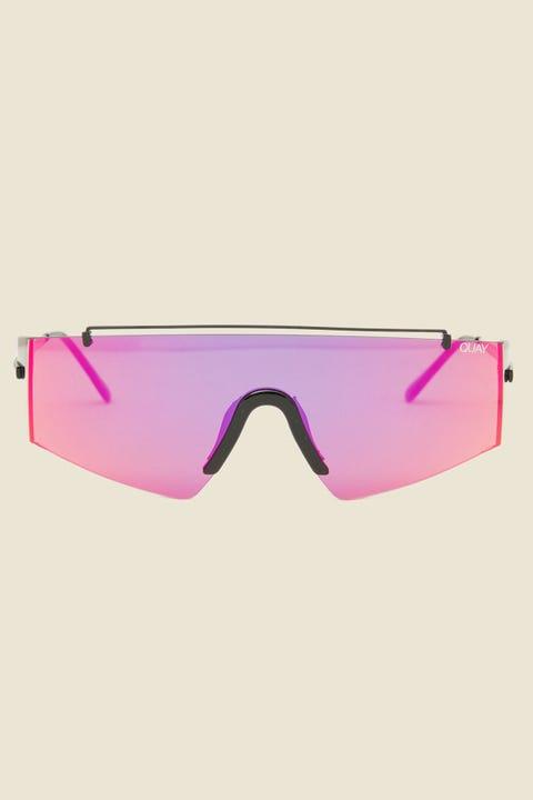 Quay Transcend Black/Pink Mirror